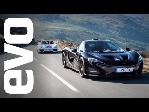 McLaren P1 squares off against Porsche 918 in Evo track battle
