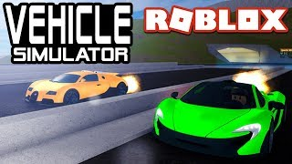 Bugatti Veyron VS McLaren P1 dans Vehicle Simulator! Roblox