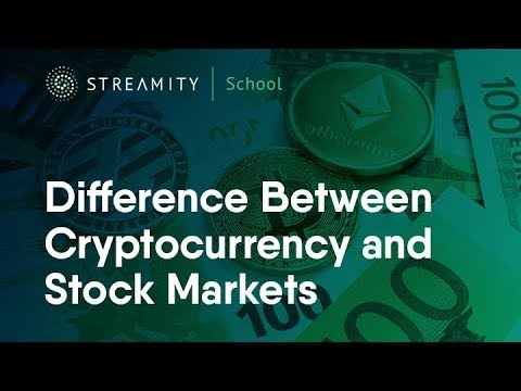 Stock markets and cryptocurrency