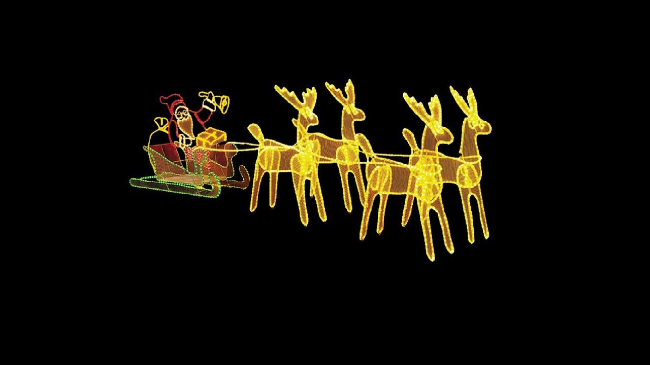973523fed8 Lighting Display - Extra Large - Santa Sleigh   Reindeers -- The Christmas  Warehouse