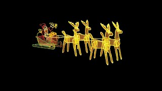 Lighting Display - Extra Large - Santa Sleigh & Reindeers -- The Christmas Warehouse