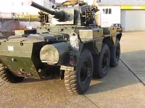 Alvis Saladin military vehicle - YouTube
