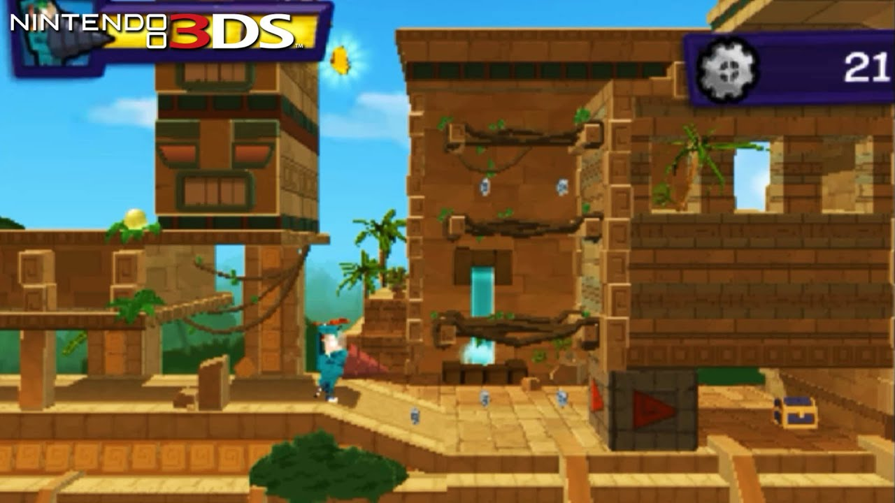 Phineas And Ferb Quest For Cool Stuff Gameplay Nintendo 3ds Capture Card Youtube