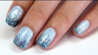 "♥ Glitter Gradient Nail Tutorial ♥- ""Drunken French"""