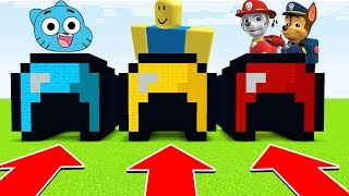 Minecraft : DO NOT CHOOSE THE WRONG HELMET! (Chase,Gumball,Roblox(Ps3/Xbox360/PS4/XboxOne/PE/MCPE)