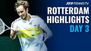 Rublev Faces Murray; Medvedev, Zverev & Nishikori Take To Court | Rotterdam 2021 Day 3 Highlights