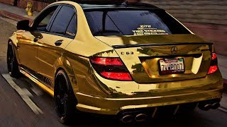 Hot_Tires : Gold C63 Amg With