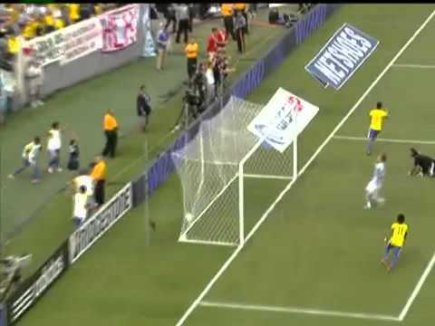 Amazing OSCAR Goal V Argentina - Argentina V Brazil 4-3