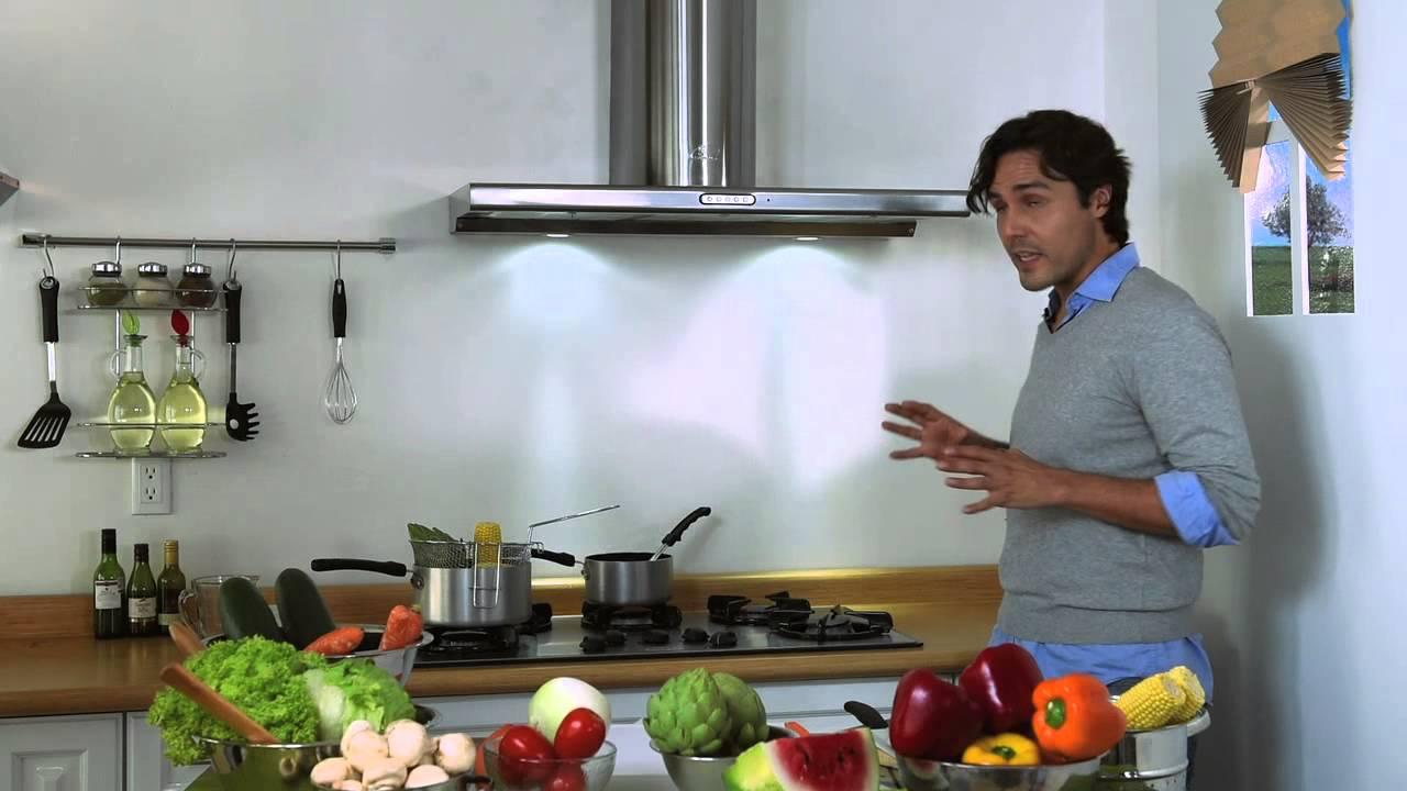 La grasa el humo y olores se quedan en la campana y no en tu cocina youtube - Extractores de humo cocina ...