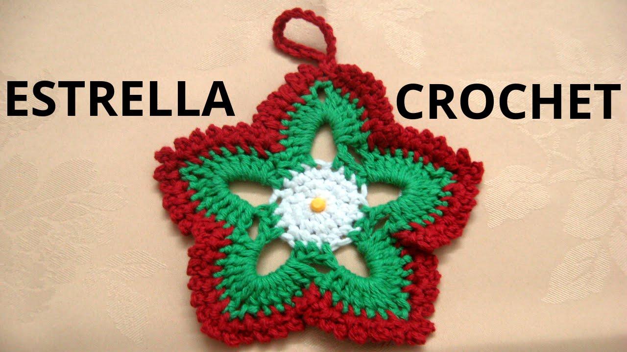 Como tejer estrellas de navidad en tejido crochet tutorial paso a ...