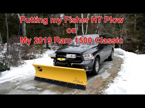 Putting The Fisher HT Plow On My 2019 Ram 1500 Classic