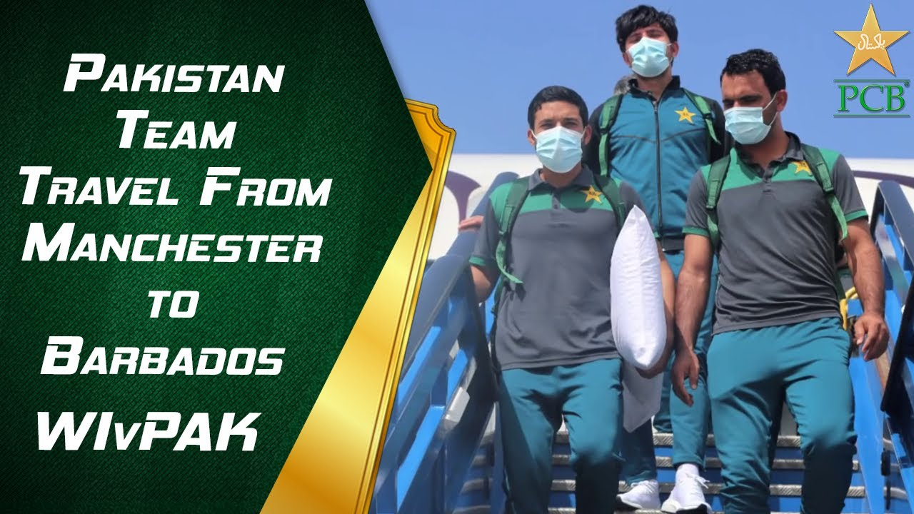 Pakistan Team Travel From Manchester to Barbados | #WIvPAK | PCB | MA2E