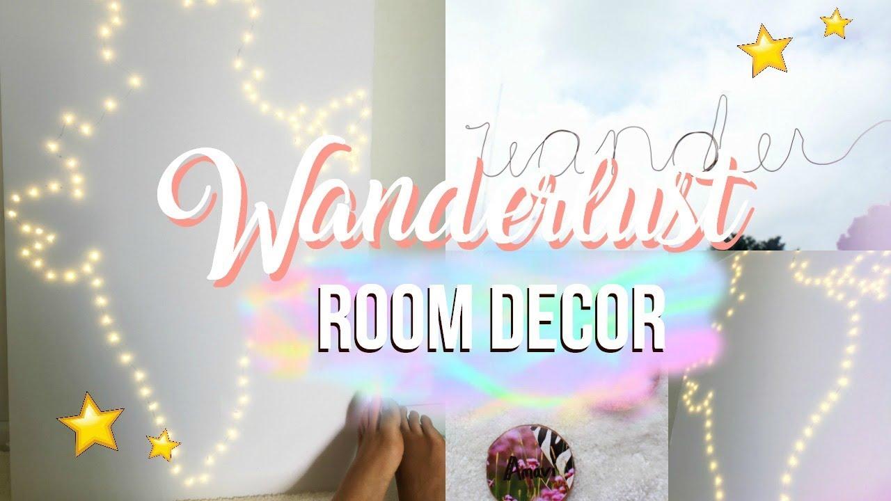 Diy wanderlust room decor tumblr pinterest inspired youtube diy wanderlust room decor tumblr pinterest inspired m4hsunfo