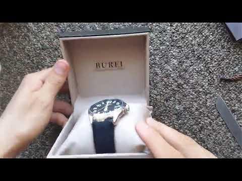 burei men s military style date display automatic waterproof watch