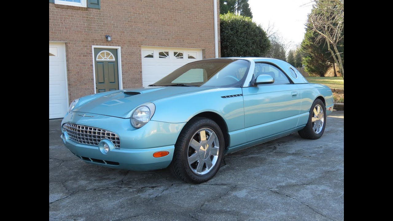 2002 Ford Thunderbird Premium Roadster Start Up  Exhaust