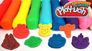 Colorful Play-Doh Cartoon Characters for Kids!