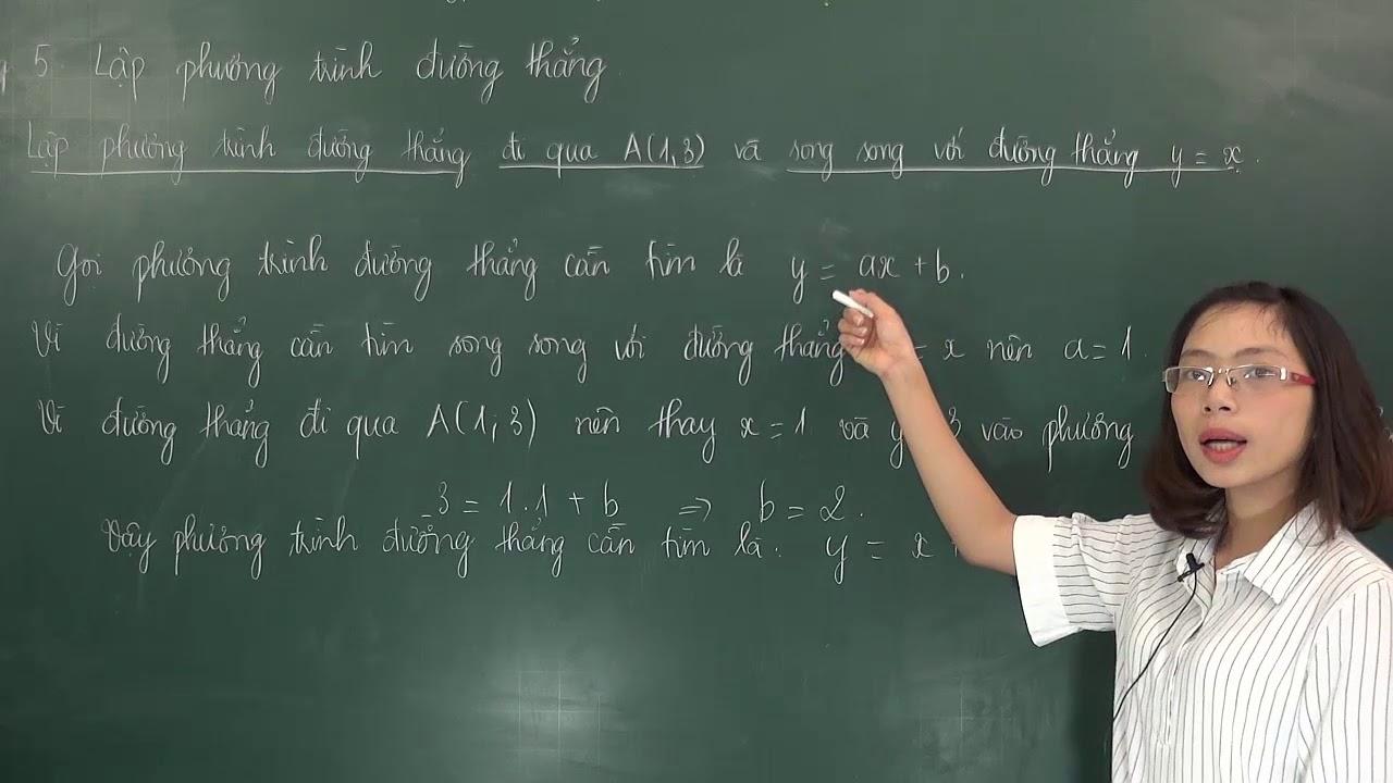 Cách lập phương trình đường thẳng – Toán lớp 9