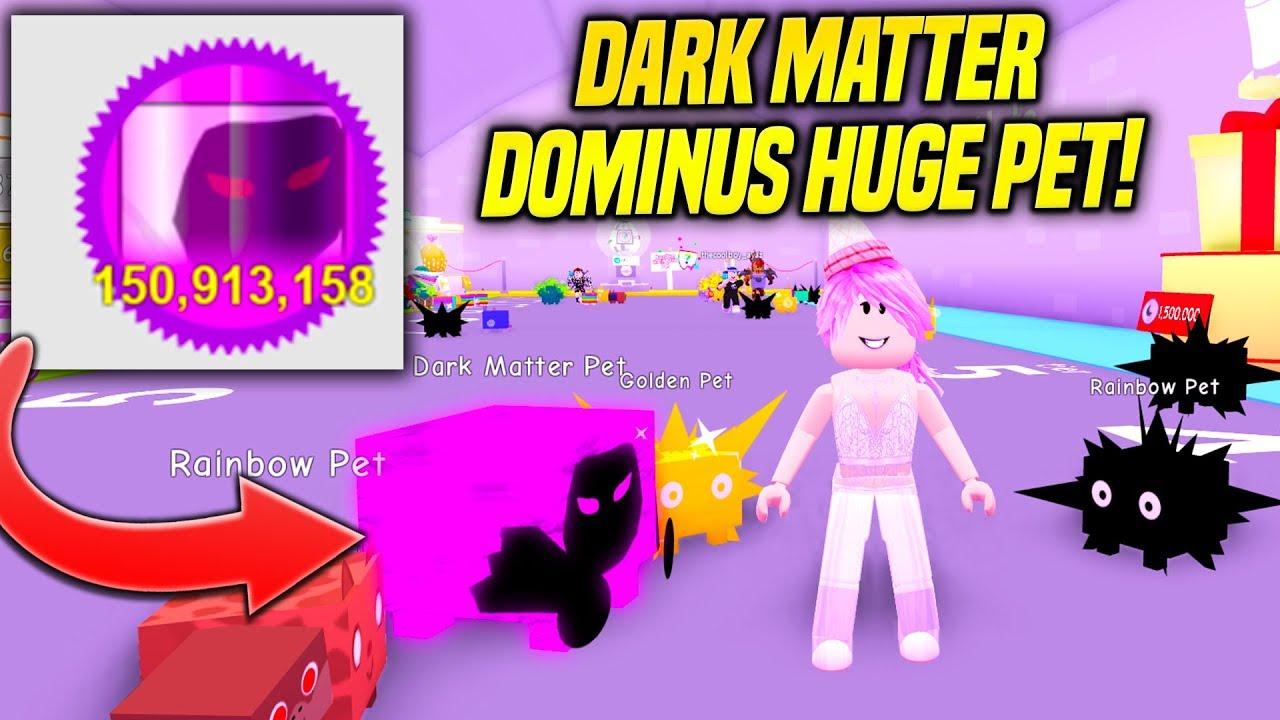 I GOT A DARK MATTER DOMINUS HUGE PET IN NEW PET SIMULATOR UPDATE! (Roblox)
