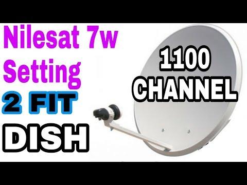 Nilesat 7w 2 Fit Dish Full setting