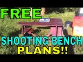Free Plans To Build Your Own DIY Portable Shooting Bench!