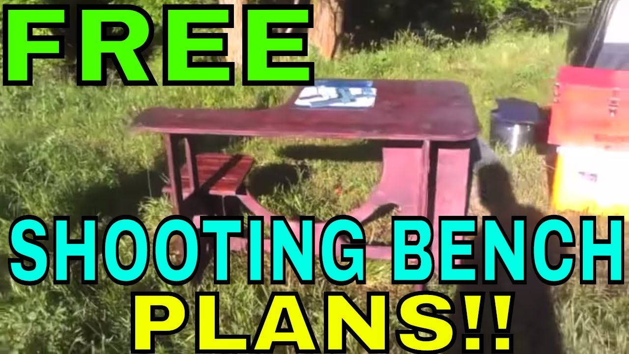 Free Plans To Build Your Own Diy Portable Shooting Bench