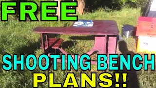 Diy Portable Shooting Bench