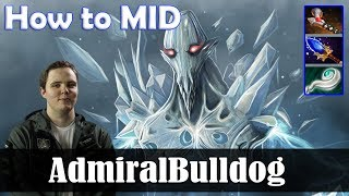AdmiralBulldog - Ancient Apparition How to MID | Dota 2 Pro MMR  Gameplay