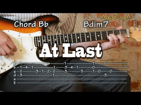 At Last - Tab & Chords, Guitar Lesson, Como Tocar, レッスン , урок, табулатуры