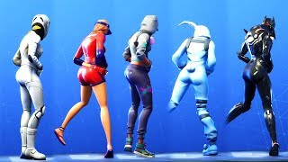 THICC BOOTY PARTOUT! 'NEW' FANCY FEET DANCE EMOTE WITH ALL FEMALE SKINS! FORTNITE (FORTNITE)