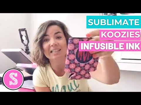 Silhouette Tutorial: How To Customize Can Coolers With Sublimation And Cricut Infusible Ink