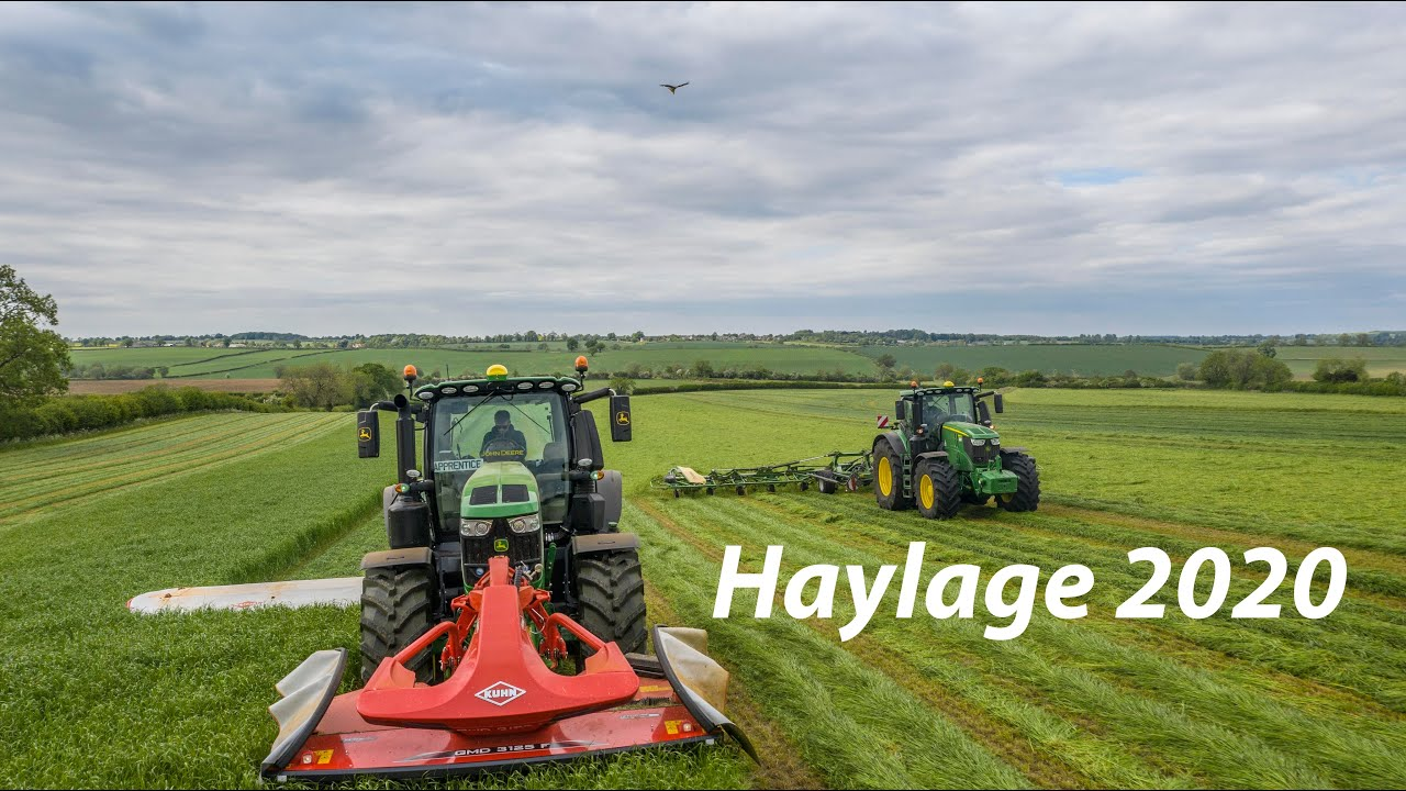 Mowing & Tedding Haylage - Culworth Grounds