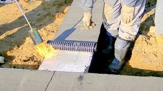 Building a house step by step  Full HD  5th Day   Insulation continuous footing