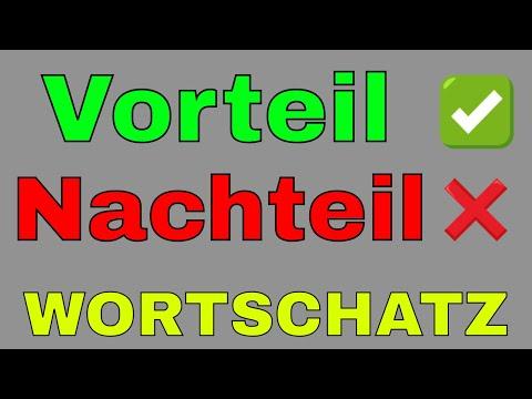 #Vorteil #Nachteil , Deutsch Lernen Wortschatz B1 B2