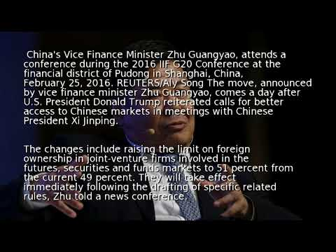 China lifts foreign ownership limits on financial firms