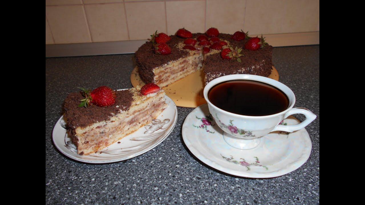 Легкий тортик из коржей