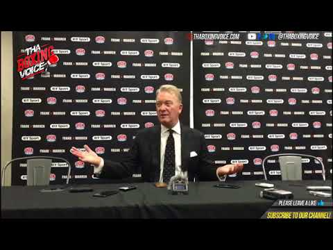 Frank Warren Post Fight After James Degale Shock Loss to Caleb Truax