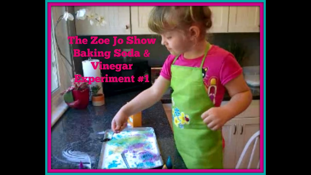 Baking Soda, Vinegar and food coloring experiment #1 | Zoe Jo Show ...