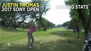 By the Numbers: Justin Thomas' dominance off the tee at the Sony Open