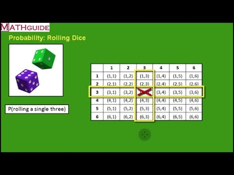 probability of rolling dice youtube. Black Bedroom Furniture Sets. Home Design Ideas