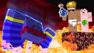 3人で大地の傷跡に飛び込む - Minecraft Fragment 実況 - #3