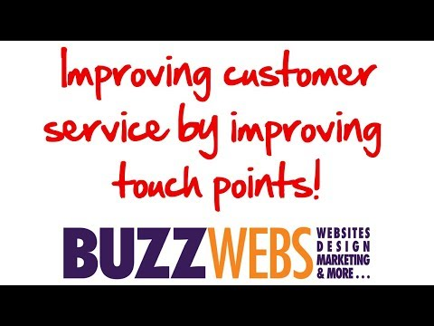 Improving customer service by improving touch points