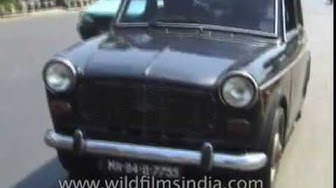 Fiat car as cultural icon in 1990's Mumbai: archival footage of Air India building, Nepean Sea Road