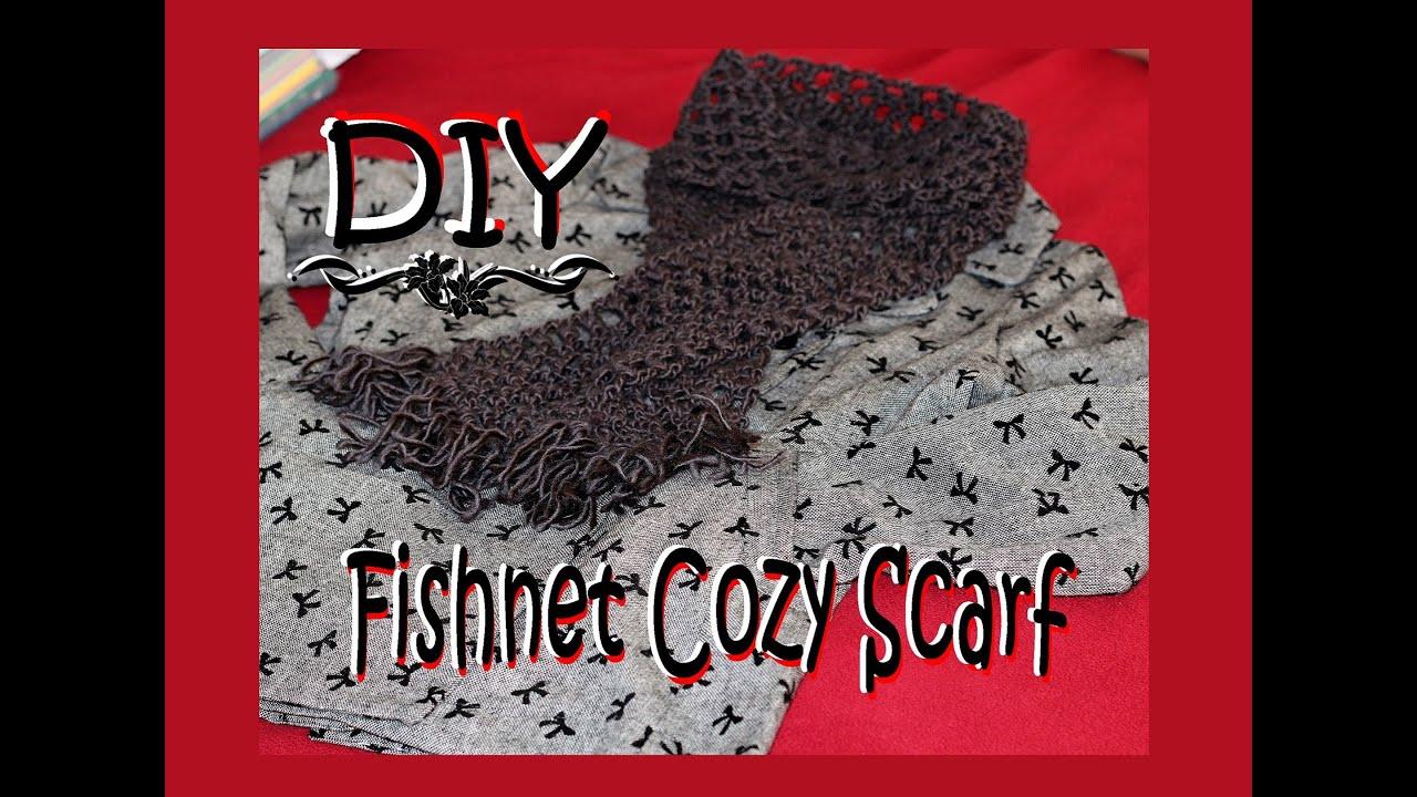 Crochet Easy Fishnet Scarf Youtube
