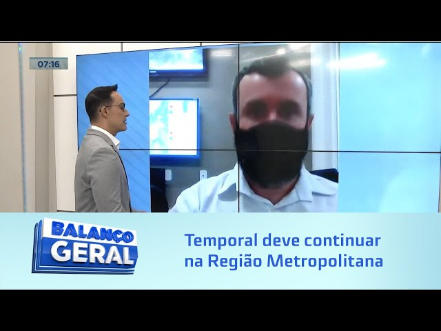 Sala de Alerta: Temporal deve continuar na Região Metropolitana