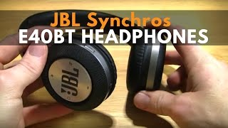 JBL Synchros E40BT Sound great have a wireless link. Enjoy my JBL Synchros E40BT review