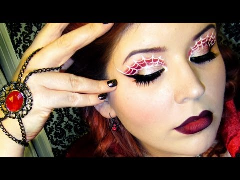 Spider Queen: Webbed Eyes Makeup Tutorial - YouTube