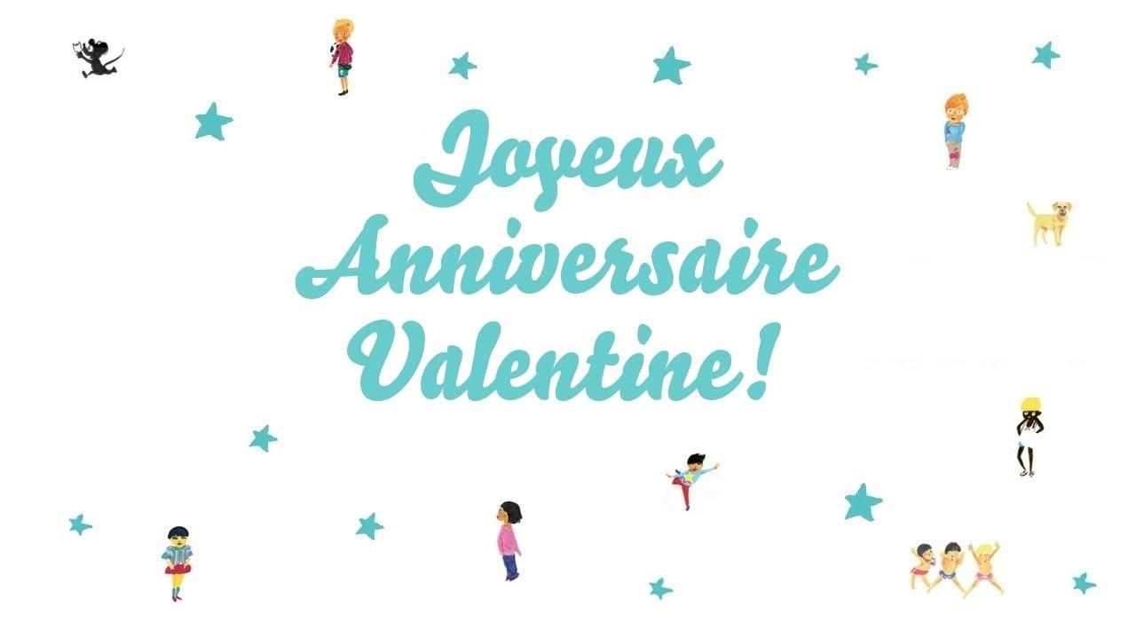 joyeux anniversaire valentine chanson