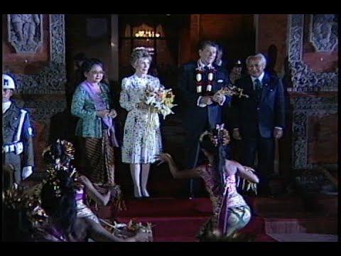 President Reagan's Trip to Bali, Indonesia on April 29, 1986