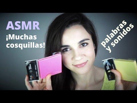 ASMR español - Te disfrazo de post-it con palabras cosquillosas