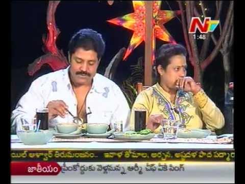 Dine with Ntv - Tollywood Hero - Real Star Sri Hari Couple - 03